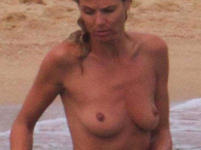 Heidi Klum was spotted completely topless