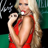 Breathtaking Jenna Jameson in red dress