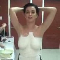Katy Perry Tv Bust For Breast Cancer