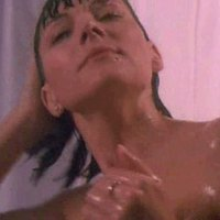 Kim Cattrall taking shower in Split Second movie