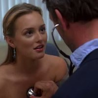Leighton Meester getting undressed in House MD TV series