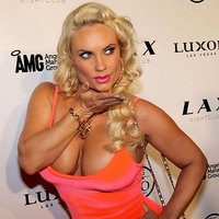 Red carpet photos of busty Nicole Coco Austin