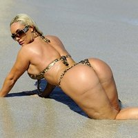 Nicole Coco Austin exposing her desirable ass