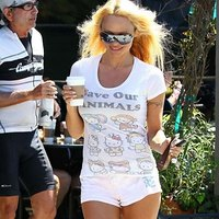 Pamela Anderson and her tiny shorts