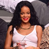 Rihanna Nipples In Sheer Tank Top