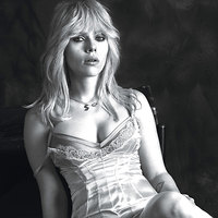Scarlett Johansson Busty In Lace Bustier For W Magazine